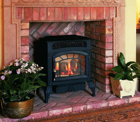 Traditional flueless stove