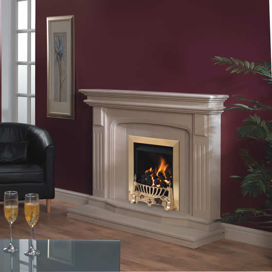 Traditional marble fireplace